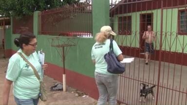Agentes de endemias estão indo de casa em casa no combate à dengue - Aumentou a preocupação no combate ao mosquito que também transmite a Zica, Chikungunya.