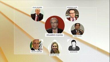 PF cumpre 53 mandatos de busca e apreensão em sete estados e no Distrito Federal - Um dos alvos dessa etapa da Lava Jato foi o presidente da câmara, Eduardo Cunha, que teve a residência oficial em Brasília e endereços no RJ vasculhados pela PF.