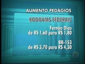 Valor dos pedágios de rodovias federais sofre aumento - Algumas estradas passam por São Paulo.