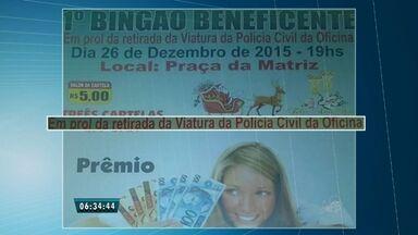 Moradores de Barreira realizam bingo para consertar única viatura de polícia do município - Secretaria de Segurança Publica informa que tem um projeto para trocar a viatura da cidade em 2016.