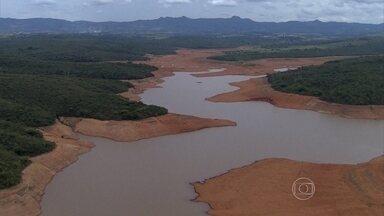 Nível do sistema Paraopeba está em 22,6% e continua crítico - Globocop sobrevoou nesta segunda-feira (28) os reservatórios que abastecem a Região Metropolitana.
