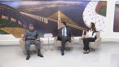 Coronel da PM participa fala sobre ações emergenciais na segurança de ônibus, em Manaus - Tenente coronel Franclides Ribeiro participou de entrevista no Bom Dia Amazônia.