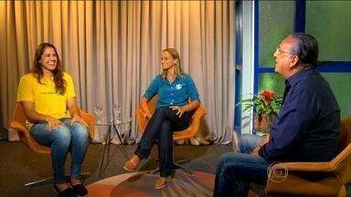 No estúdio com Galvão: Fabi e Nathalia lembram de momentos da carreira - Jogadoras do Rio de Janeiro fazem uma projeção dos Jogos Olímpicos do Rio de Janeiro.