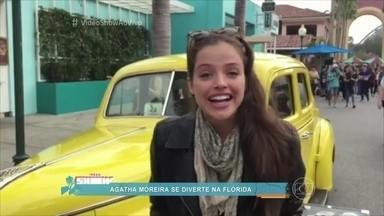 Agatha Moreira curte as férias nos Estados Unidos - Confira as notícias dos famosos nas redes sociais