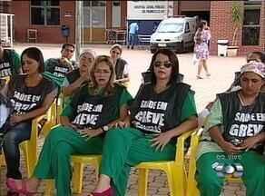 Funcionários da saúde fazem manifestações na frente dos principais hospitais do TO - Funcionários da saúde fazem manifestações na frente dos principais hospitais do TO
