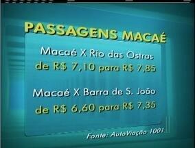 Reajuste das tarifas intermunicipais gera reclamações em Macaé, no RJ - Tarifa entre Macaé e Rio das Ostras passou de R$ 7,10 para R$ 7,85.