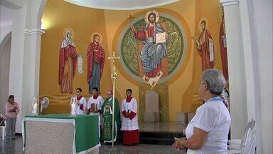 Bispo faz missa em homenagem ao pedido de beatificação do Padre Francisco Pinto - Padre foi morto por índios quando fazia trabalhos de catequese.