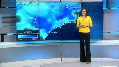 Previsão de chuva em parte do Sudeste e Sul nesta terça (12) - Previsão de chuva em parte do Sudeste e Sul do país. Sol em Roraima e Rio Grande do Sul.