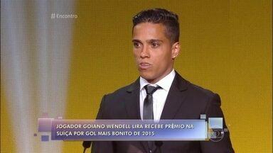 Brasileiro bate Messi e vence o prêmio Puskás - O goiano Wendell Lira ganhou o prêmio de gol mais bonito de 2015