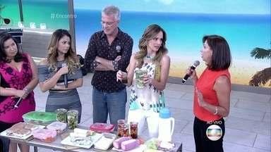 Nutricionista dá dicas de alimentos saudáveis para levar para a praia - Desiré Coelho avisa que é preciso ter cuidado com o calor ao optar por alimentos perecíveis.