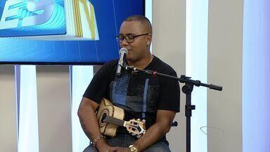 Dudu Nobre faz séries de shows no ES - Sambista foi ao estúdio do ESTV.