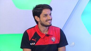 Tiago Real, novo reforço do Vitória, é o convidado do estúdio do GE - Ele falou sobre as expectativas para a temporada.