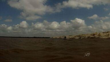 Surfistas cearenses descobrem nova pororoca no Pará - Globo Esporte, da TV Verdes Mares, acompanhou de perto.