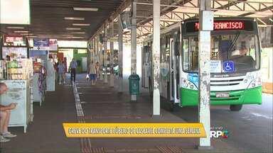 Greve do transporte público de Cascavel completa uma semana - Só deve ter alguma novidade na quarta-feira.