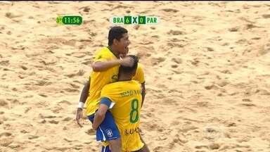 Brasil vence o Paraguai por 8 a 1 na final do Sul-Americano de Futebol de Areia - Time brasileiro abriu 8 a 0 e massacrou o adversário.