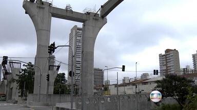 Metrô vai procurar o segundo colocado na licitação da linha 17-Ouro do monotrilho - O governo de São Paulo rescindiu o contrato com os dois consórcios responsáveis, por que eles já tinham paralisado a construção.