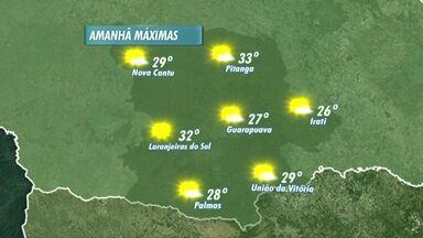 A semana vai ser de sol e calor na região de Guarapuava - O tempo fica estável nos próximos dias e as temperaturas aumentam aumentam na região.