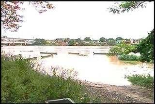 Chuva causa transbordamento do rio Paraíba do Sul e cidades alagam no Norte Fluminense - Bairros de Cambuci, São Fidélis e Itaocara.