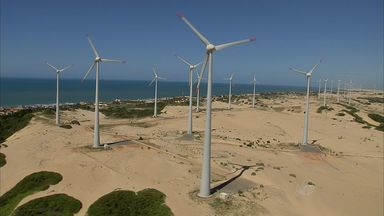Energia eólica no Ceará ainda representa pequena parcela da produção - Em todo o Brasil, energia eólica representa 4% da produção total.