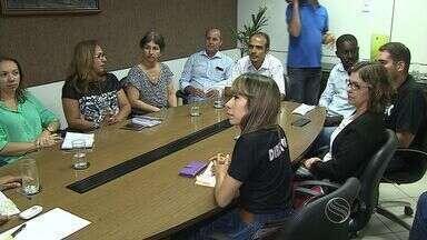 Categorias da área de saúde de Aracaju se reuniram com prefeito - Categorias da área de saúde de Aracaju se reuniram com prefeito.