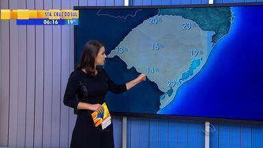 Tempo: sexta-feira (22) tem predomínio de sol e calor no RS - Na Fronteira Oeste, a temperatura chega a 35ºC.