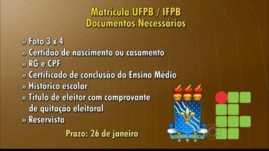Começam hoje as inscrições para instituições de ensino superior em JP e CG - Saiba as datas de matrícula e documentação necessária.