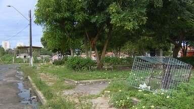 Telespectador envia imagens de abandono de praça em Manaus - Local fica ao lado da cavalaria da PM, no bairro Dom Pedro.