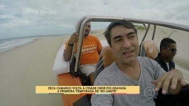 """Zeca Camargo visita cidade de """"No limite"""" - Apresentador volta a cidade onde foi gravada a primeira temporada de """"No limite"""""""