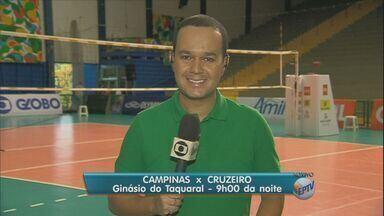 Campinas e Cruzeiro decidem Copa Brasil de Vôlei no Taquaral - Torcida já está no ginásio para este jogão.