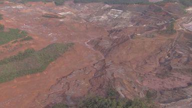 Deslocamento de lama é registrado na Barragem do Fundão, em Mariana (MG) - Deslocamento de lama é registrado na Barragem do Fundão, em Mariana (MG)