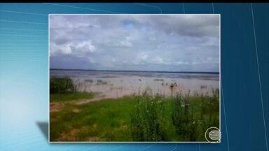 Imagens mostram o antes e depois da Lagoa de Parnaguá após as fortes chuvas - Imagens mostram o antes e depois da Lagoa de Parnaguá após as fortes chuvas