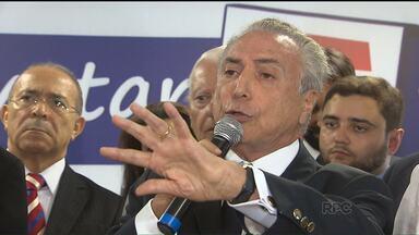 Temer diz em Curitiba que PMDB lança candidato em 2018 - Vice-presidente da República e presidente nacional do partido, Michel Temer está em caravana pelo país de olho nas eleições municipais e na presidencial.