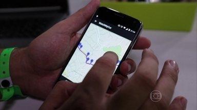 Campus Party mostra aplicativo que avisa quando o carro foi furtado - Campus Party mostra aplicativo que avisa quando o carro foi furtado.