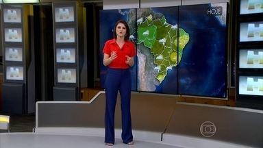 Previsão é de pancadas de chuva em SP e RJ - No Rio de Janeiro, a máxima é de 37ºC com sensação de 40ºC. Veja previsão do tempo para todo o país neste sábado (6).