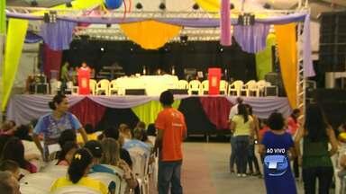Louvor e animação marcam abertura do Cristoval 2016 - Na abertura ainda teve missa presidida pelo bispo da Diocese de Santarém, Dom Flávio Giovenale.