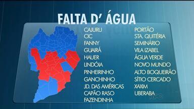 Moradores de mais de 40 de bairros de Curitiba e RM vão ficar sem água - O abastecimento será interrompido por causa de obras da Sanepar. Confira a lista.