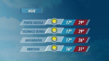 Temperaturas continuam altas nesta sexta-feira nos Campos Gerais - Veja a previsão do tempo