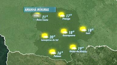 Sábado tem previsão de sol para região de Guarapuava - A máxima na cidade pode chegar aos 29ºC.