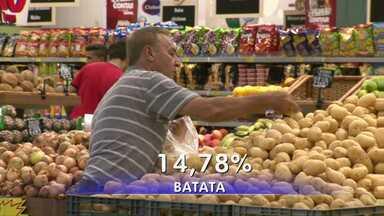 Alta no preço dos alimentos puxa inflação neste começo de ano - A inflação dos últimos 12 meses ficou em 10,71% muito influenciada pela alta dos hortifrutis.