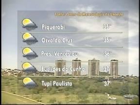 Meteorologia prevê chuva para este sábado no Oeste Paulista - Confira como fica o tempo nos municípios da região de Presidente Prudente.