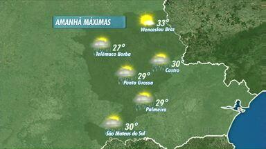 Domingo deve ser acompanhado de calor na região de Ponta Grossa - Máxima deve chegar aos 29 graus. Pode chover à tarde.