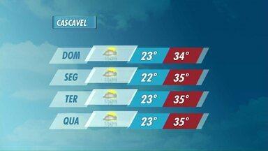 Frente fria chega neste domingo e muda o tempo no Paraná - Mesmo com a previsão de chuva, o calor continua.