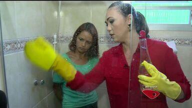 Dicas da Lucy: aprenda como limpar o box do banheiro - A dica é o famoso vinagre!