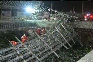 Ponte que estava em obras desaba em Fortaleza e mata duas pessoas - Ao todo, nove trabalhadores foram atingidos.