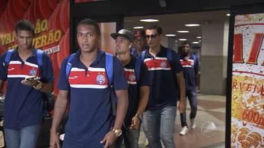 Equipe do Bahia vive expectativa de saber escalação para amistoso em Orlando - O tricolor vai enfrentar o Orlando City, nos Estados Unidos.