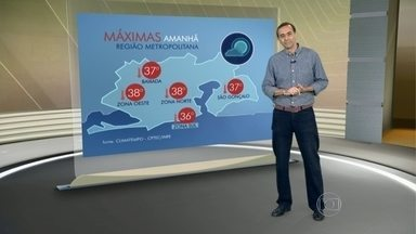 Termômetros do RJ podem registrar até 38°C na quarta-feira (24) - Não há previsão de chuva para esta quarta-feira (24).