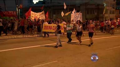 Protesto contra o aumento das passagens de ônibus acontece nesta segunda (29) - Manifestantes querem garantias da Justiça que a passagem se fixará em R$ 3,25.