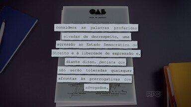 OAB faz nota de repúdio contra dois vereadores de Guarapuava - A nota de repúdio é contra o presidente da Câmara de Vereadores, João Napoleão, e o vereador Elcio Melhem.