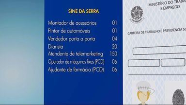 Quer emprego?: agência do trabalhador de Cariacica começa projeto em praças, no ES - Confira também as vagas dos Sines de Cariacica e Vitória.