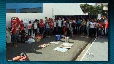 Estudantes fazem protesto em Aracaju - Estudantes fazem protesto em Aracaju.
